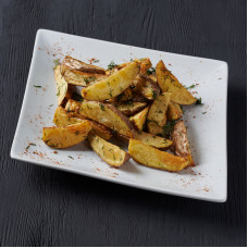 Картошка по-деревенски с чесноком